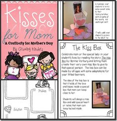 kisses for mom! fun for mother's day!!