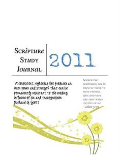 Scripture Study journal.  Free to download and print!  100 pages all ready to print and fill...