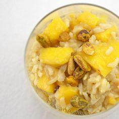 Mango Fried Rice Pudding