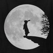 tattoo ideas, art, werewolf bunni, rabbit silhouette, hares and rabbits, velveteen rabbit tattoo, rabbit hare, bunni tattoo, hare moon