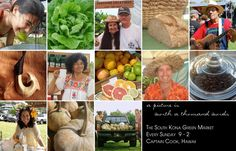 SOUTH KONA GREEN MARKET -- best farmers market in Kona! Sundays 9-2 in Captain Cook, just a short drive south of Kailua Kona. You don't want to miss it!!