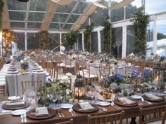 Plan B for an outdoor wedding - a clear tent