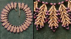 Video; Coral Reef necklace by Beading4perfectionis. #Seed #Bead #Tutorials