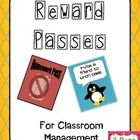 FREE: This product is a set of two different reward passes that can be used in conjunction with your classroom management program to encourage and praise your students.