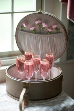 pink bubbles champagne