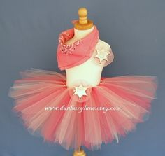 Cowgirl Birthday Tutu set, Toddler girls Halloween Costume, western dress up, you choose size 2t, 3t, or 4t -PINK COWGIRL BALLERINA. $36.95, via Etsy.