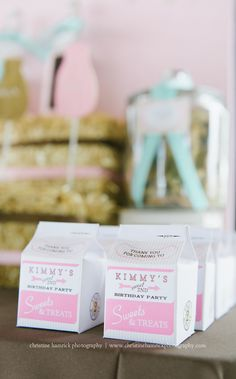 milk and cookies milk carton favors
