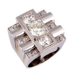 1stdibs   An Art Deco Diamond Ring.