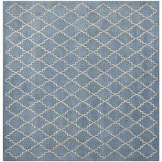 Safavieh Handmade Moroccan Blue Grey Wool Rug (7' Square)