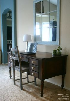 Ana White | Build a Turned Leg Traditional Desk | Free and Easy DIY Project and Furniture Plans