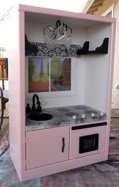 Pink Play Kitchen