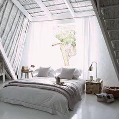 interior, grey rooms, gray room, attic bedrooms, dream, cozy bedroom, white bedrooms, hous, light