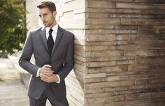 groom trends: charcoal wedding day suits  |  charcoal is the new black