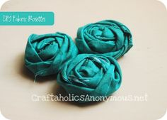 How to make cute Fabric Rosettes! photo and video tutorial