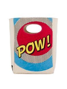 Fluf Organic Cotton Lunch Bag POW - 100% certified organic cotton.  #ecofriendly #organic #gogreen