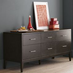 Narrow-Leg 6-Drawer Dresser | west elm