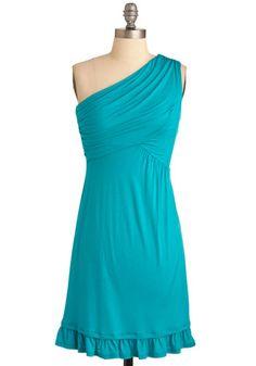 Midnight Sun Dress in Aqua