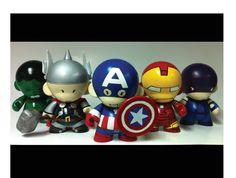 Avengers Munny by spilledpaint88.deviantart.com