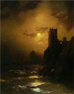Tower. Shipwreck - Ivan Aivazovsky