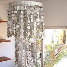 Lámpara con materiales reciclados