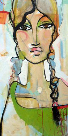 Bekah Ash #figurative #portrait #art #colorful