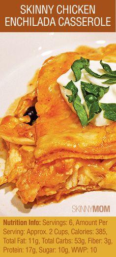 skinni chicken, chicken enchiladas healthy, mom chicken, skinny mom, healthy enchiladas chicken, healthier chicken recipes, skinny chicken enchiladas, healthy enchilada casserole, skinni mom