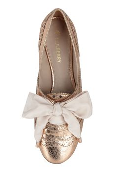 mulberry rose gold oxford flats. :)