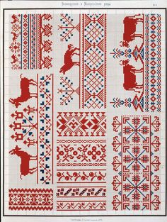 Russian embroidery patterns from 1877