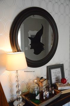 Witch Silhouette Window Cling - The Idea Room