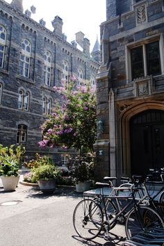 Exteriors of Healy and Copley Halls, Georgetown University