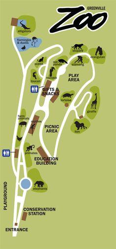 zoo map, greenvill zoo, wonder zoo