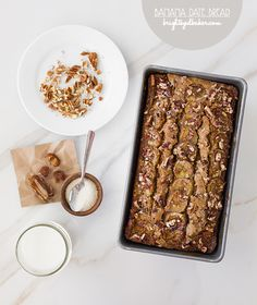 Banana Date Bread via @brighteyedbaker/ / #bananabread #banana #dates #recipe