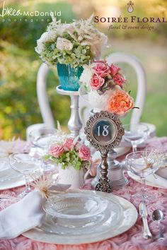 Mirrored framed wedding table number