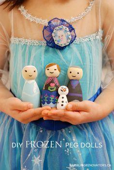 craft, birthday parties, frozen peg doll, kid, diy frozen doll