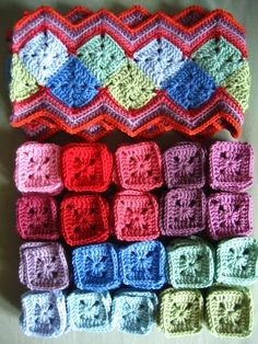Attic 24 Granny squares, love this joining idea.