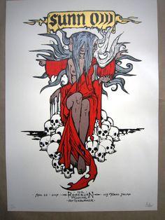 Sunno Roadburn Festival Holland 2007 Silkscreen Poster ART Malleus | eBay