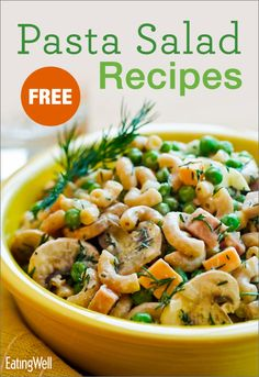 FREE cookbook with healthy and delicious pasta salads