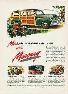 family man? 1946 Mercury Station Wagon by aldenjewell, via Flickr