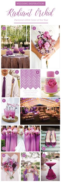 Pantone Radiant Orchid Wedding Inspiration by Delphine