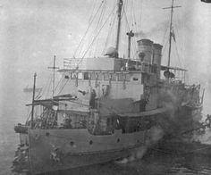 "Imperial Japanese Navy ""Tatara"", formerly the USS Wake (PR-3), Shanghai, China, January 1942."