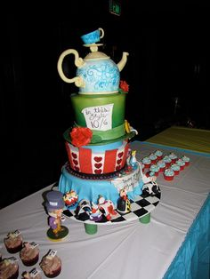 Alice in Wonderland Birthday Cake by ArtisanCakeCompany, via Flickr