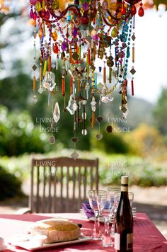 Colorful chandelier