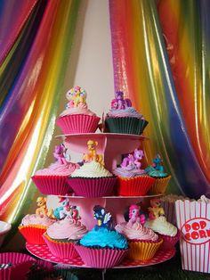 birthday parti, poni cupcakesava, birthday idea, my little pony cupcakes, baking