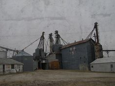 Grain elevator in Oneida, Kansas.
