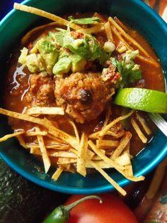 Beef, Black Bean & Rice Albóndiga Soup - Hispanic Kitchen