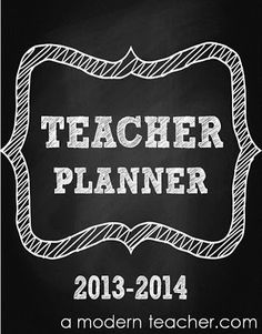 Teacher and Lesson Planner, editable with Common Core