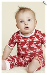 Bedhead Red Steamboat Baby Tee and Pant Set PJ