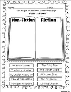Fiction/Non-fiction Activities