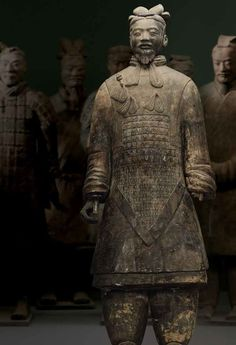 Tableau of terracotta warriors, protectors of the First Emperor, from Museum of the Terracotta Army and the Cultural Relics Bureau of Shaanxi Province in Xi'an, China.