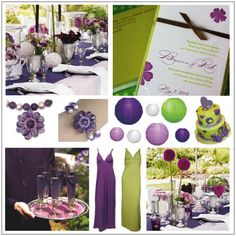 #purple and #green #wedding #decor
